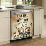 Donkey Lives Like Someone Left The Gate Open Dishwasher Cover Sticker Kitchen Decor