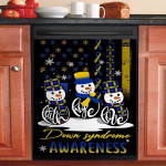 Faith Hope Love Down Syndrome Awareness Snowman Christmas Dishwasher Cover Sticker Kitchen Decor