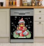Chicken Warm Winter Dishwasher Cover Sticker Kitchen Decor