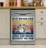 Drum If It Involves Pattern Dishwasher Cover Sticker Kitchen Decor