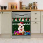 Corgi Christmas Dishwasher Cover Sticker Kitchen Decor