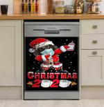 Christmas 2020 Dachshund Dishwasher Cover Sticker Kitchen Decor