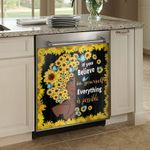 Everything Is Possible African Woman Dishwasher Cover Sticker Kitchen Decor
