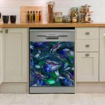 Dragonfly Colorful At Night Dishwasher Cover Sticker Kitchen Decor