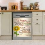 Family To My Daughter Once Upon Time Sunflower Dishwasher Cover Sticker Kitchen Decor