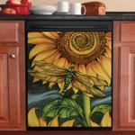 Dragonfly Sunflower Clipart Dishwasher Cover Sticker Kitchen Decor