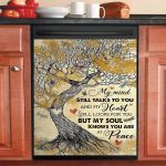 Dragonfly My Mind Still Talks To You My Soul Knows Who You Are Dishwasher Cover Sticker Kitchen Decor