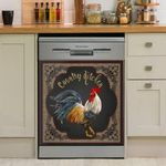 Country Chicken Stately Colorful Cock Vintage Dishwasher Cover Sticker Kitchen Decor