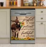 Farmer Joyful Patient Faithful Dishwasher Cover Sticker Kitchen Decor
