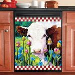 Cow Garden Dishwasher Cover Sticker Kitchen Decor