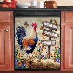 Chicken Positive Mind Positive Vibes Positive Life Dishwasher Cover Sticker Kitchen Decor