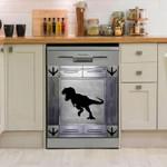 Dinosaur Corners Metal Dishwasher Cover Sticker Kitchen Decor