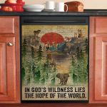 Dictionary In God Is Wildness Lies Camping Dishwasher Cover Sticker Kitchen Decor