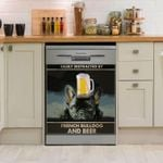 Easily Distracted By French Bulldog And Beer Dishwasher Cover Sticker Kitchen Decor