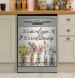 Christian It's A Relationship Dishwasher Cover Sticker Kitchen Decor