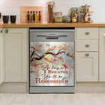 Dragonfly As Long As I Breathe Dishwasher Cover Sticker Kitchen Decor