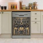 Egyptian Pharaoh And His Maiden Dishwasher Cover Sticker Kitchen Decor