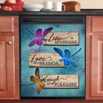 Dragonfly Live Love Laugh Dishwasher Cover Sticker Kitchen Decor