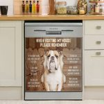 English Bulldog Remember When Visiting My House Dishwasher Cover Sticker Kitchen Decor