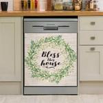 Farmer Bless This House Dishwasher Cover Sticker Kitchen Decor
