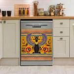 Egyptian Cat Wing Stripe Dishwasher Cover Sticker Kitchen Decor
