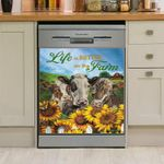Cow Life Is Better On The Farm Dishwasher Cover Sticker Kitchen Decor