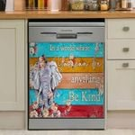 Elephant Be Kind Dishwasher Cover Sticker Kitchen Decor