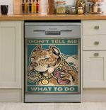 Dog Don't Tell Me What To Do Dishwasher Cover Sticker Kitchen Decor