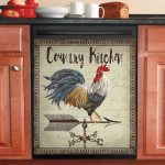 Country Kitchen Rooster Dishwasher Cover Sticker Kitchen Decor