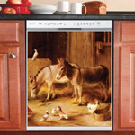 Donkey Stable Animals Farm Dishwasher Cover Sticker Kitchen Decor
