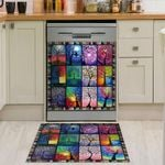 Colorful Tree Of Life Dishwasher Cover Sticker Kitchen Decor