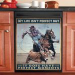 Cowboy Rider Dishwasher Cover Sticker Kitchen Decor