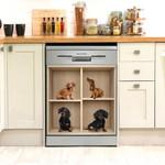 Dachshund Dogs On Shelf Dishwasher Cover Sticker Kitchen Decor