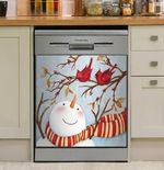 Fall Snowman And Cardinals Dishwasher Cover Sticker Kitchen Decor