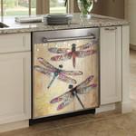 Dragonfly Joy Hope Love Faith Dishwasher Cover Sticker Kitchen Decor