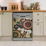 Ethnic Native Boho Paisley Dishwasher Cover Sticker Kitchen Decor