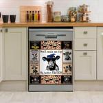 Don't Make Me Flip My Heifer Swich Cow Dishwasher Cover Sticker Kitchen Decor