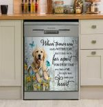 Dachshund Dog Without Me Dishwasher Cover Sticker Kitchen Decor