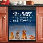 Dogs Good Friends Are Like Stars Dishwasher Cover Sticker Kitchen Decor