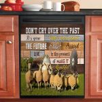 Do Not Cry Over The Past Sheep Dishwasher Cover Sticker Kitchen Decor