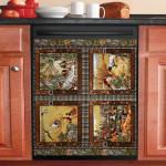Duck Hunting Labrador Dishwasher Cover Sticker Kitchen Decor