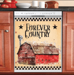 Farm Life Forever Country Pattern Dishwasher Cover Sticker Kitchen Decor