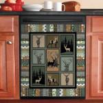 Deer Pattern Dishwasher Cover Sticker Kitchen Decor
