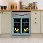 Eye Black Cat Dishwasher Cover Sticker Kitchen Decor