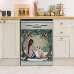 Cockapoo Circle Tree Dishwasher Cover Sticker Kitchen Decor