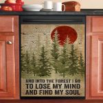 Dictionary And Into The Forest Camping Lose My Mind Dishwasher Cover Sticker Kitchen Decor