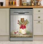 Christmas Kitchen Art Dishwasher Cover Sticker Kitchen Decor