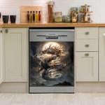 Fantasy Dragon Dishwasher Cover Sticker Kitchen Decor