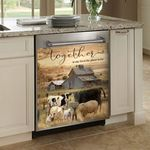 Farm Animal Together Is My Favorite Place To Be Dishwasher Cover Sticker Kitchen Decor