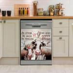 Cow Never Alone Dishwasher Cover Sticker Kitchen Decor